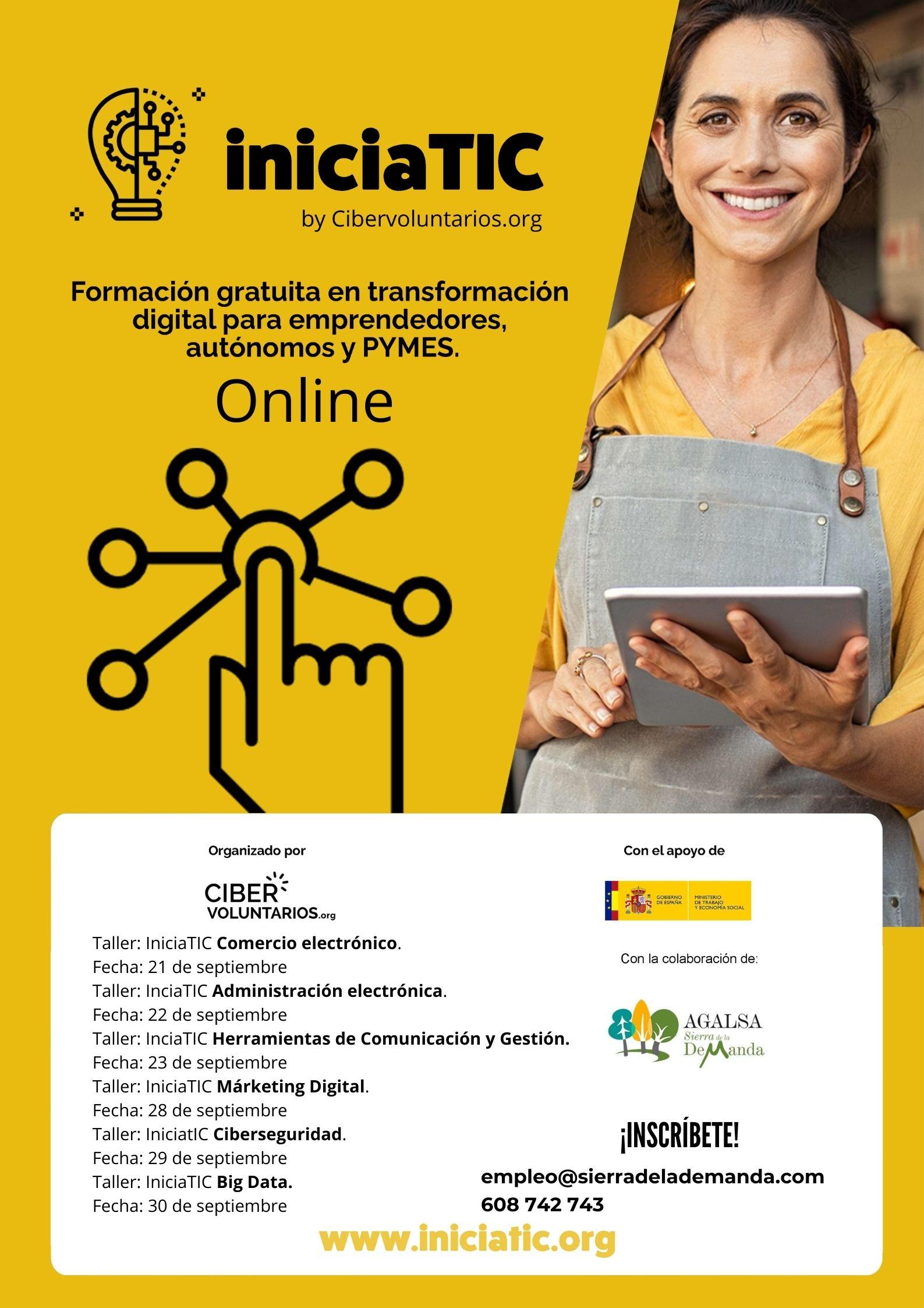 Formación específica y gratuita en transformación digital y emprendimiento para impulsar tu negocio